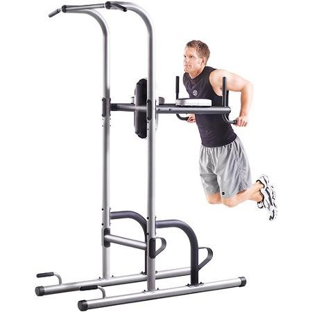 Click to open expanded view Gold's Gym XR 10.9 Power Tower Vertical Knee Raise Features Several Different Stations