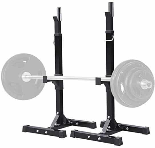 ATLAS HEAVY DUTY SQUAT RACK WITH BENCH PRESS SAFETY STANDS