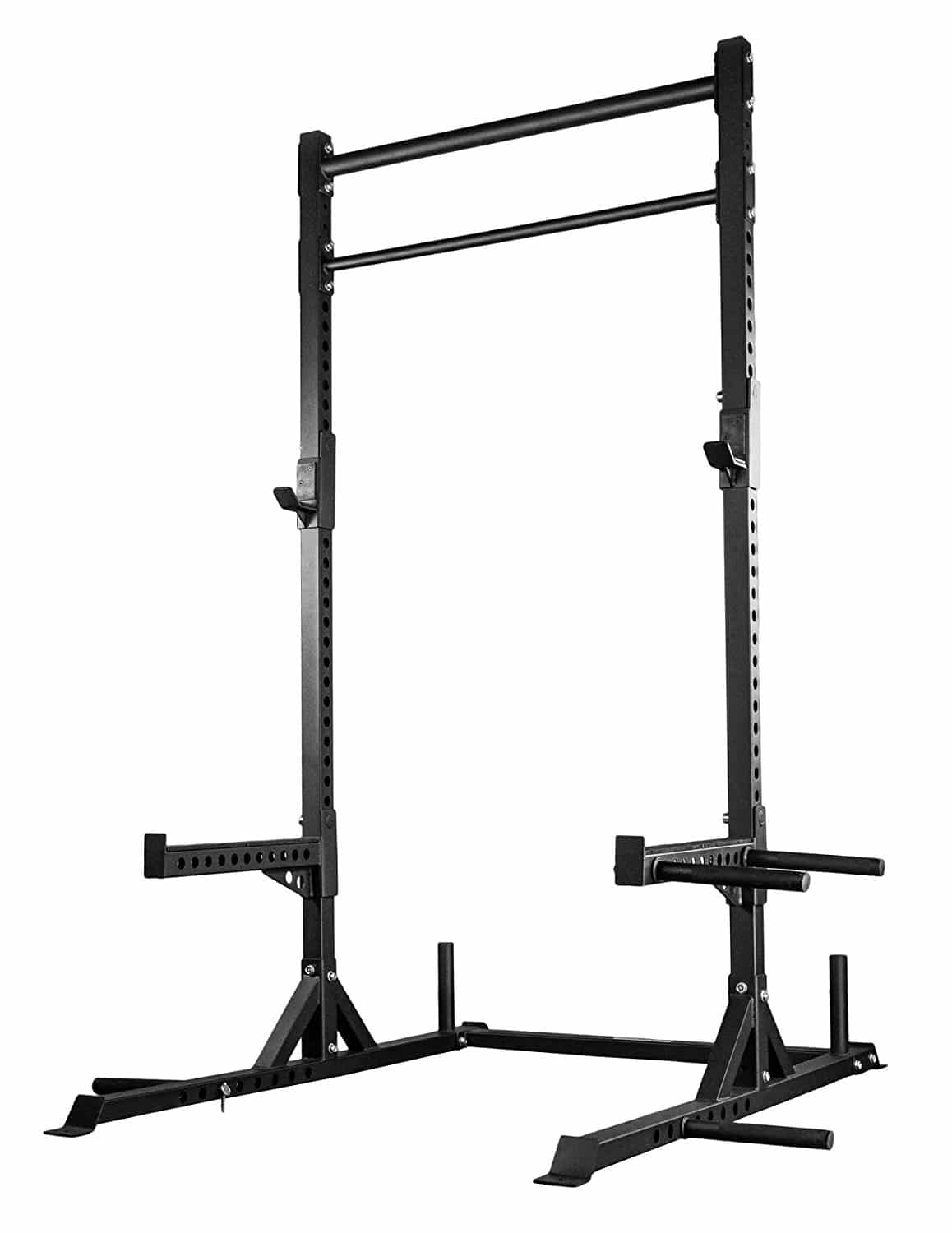 TITAN X-3 ADJUSTABLE SQUAT STAND W/SPOTTER ARMS & PULL UP BAR 3″ X 3