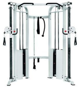 Roll over image to zoom in XMark Functional Trainer Cable Machine with Dual 200 lb Weight Stacks