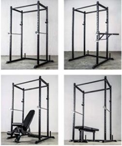 Rep Short Power Rack – PR-1050 – 72 inches with Optional Dip Attachment, Flat Bench, Adjustable Bench