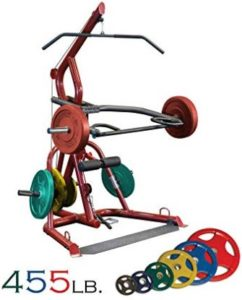 Body-Solid GLGS100 Corner Leverage Gym and COLORED Weight Set